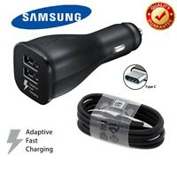 OEM Samsung Adaptive Fast Rapid Cable + Car Charger For Galaxy Note 8 S9 S8 PLUS