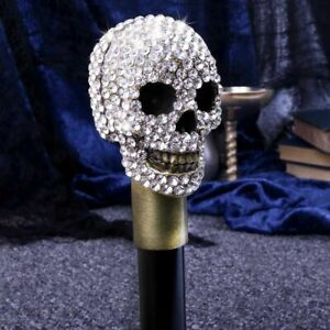 Nemesis Now Jewelled Grinning Skull Swaggering Cane 95cm WALKING STICK