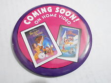 VINTAGE PROMO PINBACK BUTTON #113-048 - BEAUTY & THE BEAST video coming soon
