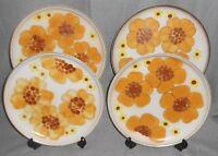 Set (4) Denby MINSTREL PATTERN Dinner Plates MADE IN ENGLAND