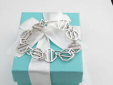 """TIFFANY & CO SILVER ZELLIGE PICASSO BRACELET BOX POUCH INCLUDED 8"""""""