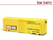 Brawa H0 Box Car gedeckter Güterwagen OHNE Drehgestelle Hilfs-Güterschuppen 0993