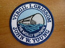 Official NASA Space Emblem Patch Gemini 3 The Molly Brown Young Grissom A-B Rare