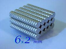 50 CALAMITE 6x2mm MAGNETI NEODIMIO    POTENTI magnete per FIMO