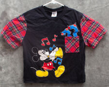 Mickey Mouse Disney Womans Pajama Top Size M Mickey & Co Black