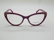 NEW Authentic VERSACE Mod. 3191 5067 Cyclamen 52mm RX Eyeglasses