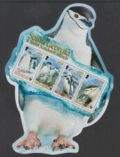 South Georgia - 2008, Endangered Species, Penguins sheet - MNH - SG MS457