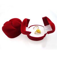 Velvet Red Party Wedding Gift Box Jewelry Ring Box Display Case