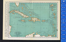 WEST INDIES - 1932 Map