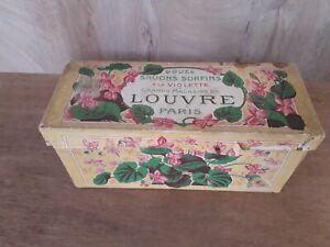 Ancienne boite en carton à savons surfins Magasins du LOUVRE Paris déco vintage