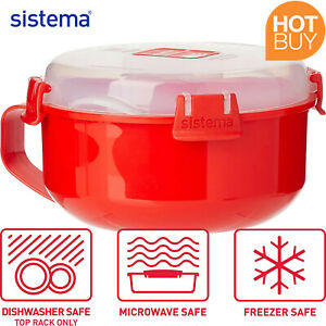 Sistema Microwave Meal Soup Breakfast Omelette Bowl Container with Lid BPA-Free