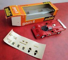 FERRARI 512-M - GAM 2 SOLIDO 1/43 Original VINTAGE Toy Car IN BOX Ottime Condiz