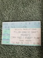 JIMMY PAGE & ROBERT PLANT 1995 NO QUARTER TOUR Concert Ticket Stub