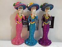 3- Skeleton Bride Figurine Day of the Dead Statue Muertos Sugar Skull All Colors