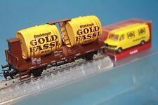 """M&B Marklin Ho 4438 Beer barrle car """"Gold Fassl bier"""" ÖBb Rare export item"""