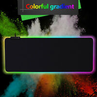 Chroma Multi-Color Large RGB Soft Gaming Mouse&Keyboard Pad for Razer Logitech