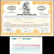 Broker Owned Stock Certificate: Bear Stearns, payee; United Air Lines , issuer