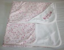 Strawberry Pink White Baby GIRL Receiving Blanket Cotton 2-Ply 6M Hooded RN59478