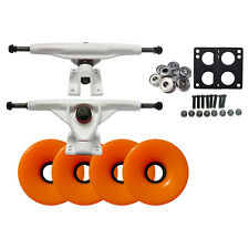 LONGBOARD Skateboard TRUCKS 76mm WHEELS + BEARINGS