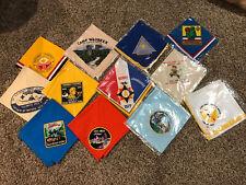 Vintage Lot of 12 BSA Boy Scout Scouts Neckerchiefs Jamboree Camporee Hiker NEW