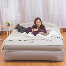 AeroBed Opti-Comfort Queen Air Bed Mattress with Headboard. Adjustable Firmness