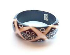 Women's Exotic Fashion Wooden Bangle Perfect for Layering or Alone