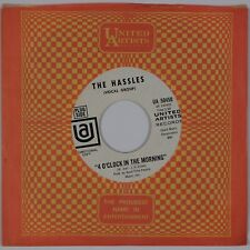 THE HASSLES: 4 O'Clock in the Morning UA Promo, Billy Joel Rock 45 NM- '68
