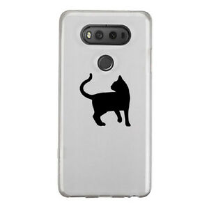 2X Cute Cat Kitty Sticker Die Cut Decal for mobile cell phone Smartphone Decor