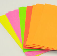 40 Sheets of A4 Mixed Neon Colour Paper Pink Yellow Green Orange Art Craft