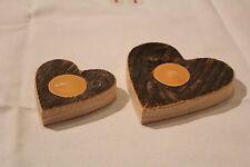 Handgefertigte Deko-Kerzenständer & -Teelichthalter aus Holz