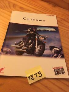 Honda 2003 Custom VT 125 Shadow VT750 Negro Widow VTX 1800 1300 Catálogo