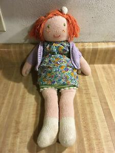 "Blabla Doll Trixie 18"" Redhead Ginger Freckles Dress Sweater Knit Cotton Peru"