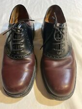 Johnston & Murphy Mens Passport Saddle Shoes Oxfords Made in Italy Sz 11 Euc