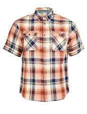 Marks and Spencer Men's Check Short Sleeve Collared Casual Shirts & Tops