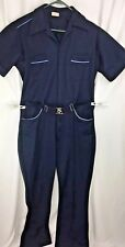 Vintage 70s Sears Polyester Suit Jumpsuit Blue Holloween Costume Theater Drama