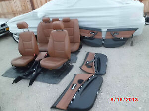 BMW E90 LEATHER SEAT CONSOLE ((CINNAMON)) BROWN INTERIOR 325i 328i 330i 335i 328