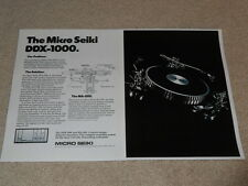 Micro Seiki Ad, DDX-1000 Turntable, MA-505 Tonearm, 2 pg, 1976, Very Rare!