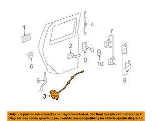 Hummer GM OEM 03-09 H2 Rear Door-Lock Actuator Motor 20785785