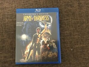 Army of Darkness Region A Blu Ray 3 Collectors Edition. Shout Factory. Very rare