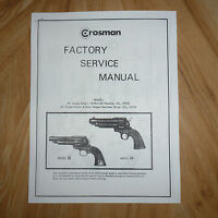 Crosman 36 & 44 Complete Factory Service Manual With Exploded Views