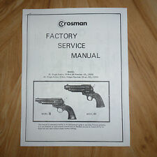 Factory Service Manuel Vue éclatée phase I Crosman 38 C /& 38 T liste de pièces