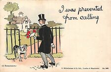 POSTCARD   COMIC   WRITE  AWAY   I was prevented from calling    BULLDOG Related