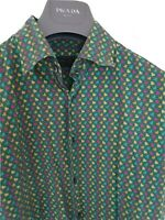 "Mens chic PRADA ""love hearts"" short sleeve shirt size small. RRP £425"
