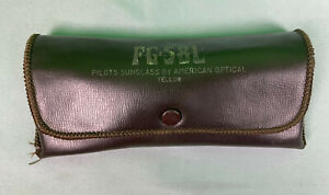 Vintage AO FG 58L American Optical Pilots Sunglass Yellow Aviators Case Only