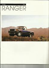 FORD RANGER USA OVERSIZED CAR BROCHURE 1993