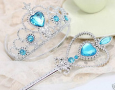 Frozen Princess Queen Anna Elsa Wand & Tiara Crown Dressing up 2 Piece Set Gift