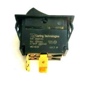 Southbend 1177541 Black Power Switch Rocker load10A 250V, 15A 125V