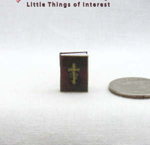 1:24 Scale HOLY BIBLE Dollhouse Miniature Half Inch Scale Book