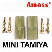 Mini Tamiya Male/Female Gold Plated Plug Connectors (Battery/ESC) -MULTILISTING