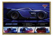 "DISNEY'S CARS 3 POSTER ""LICENSED"" BRAND NEW ""Jackson Storm Stats"" size 61X91.5CM"